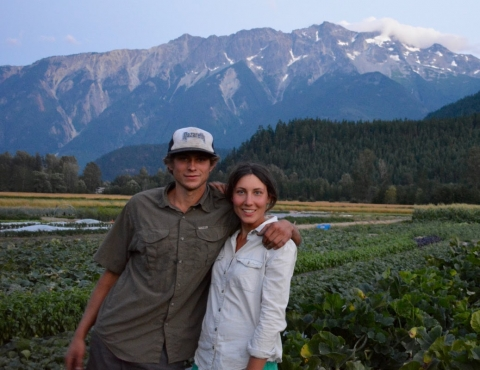 Alyssa and David own and operate Plenty Wild Farms